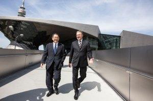 BMW chairman Norbert Reithofer and Toyota president Akio Toyoda