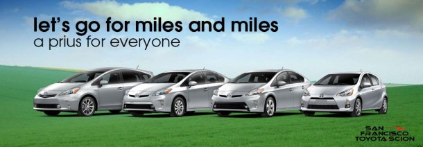Let's go for miles and miles with the prius family.
