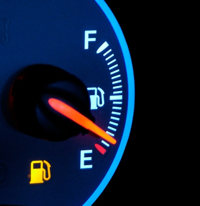 out of gas gauge